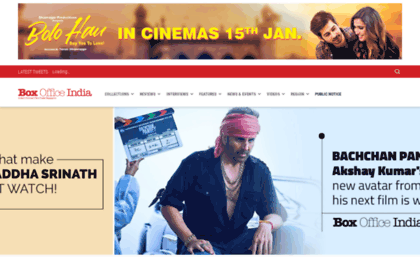 Boxofficeindia co in website  Home | Box Office India