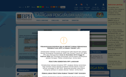Bph Gov My Website Sbbph Sistem Bersepadu Bahagian Pengurusan Hartanah