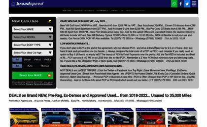 Broadspeed Com Website Best New Car Deals Pcp 0 Free Finance Huge 2019 Discounts Buy Cars For Sa