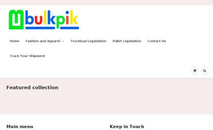 Bulkpik com website  Buying Closeouts, Liquidation and
