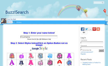buzzisearch com website google loco how to change google logo to