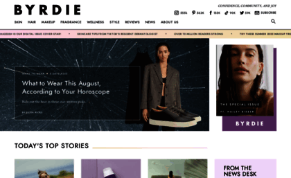 Byrdie com website  Insider Beauty Tips, Product Reviews