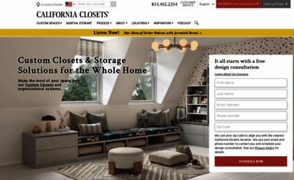 Californiaclosets.com Website. Custom Closet Systems, Home ...