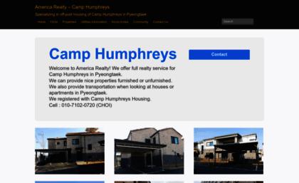 Camphumphreysrealty com website  America Realty - Camp Humphreys