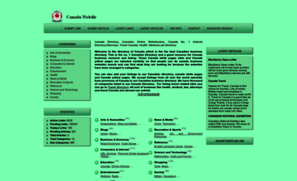 Canadawebdir com website  Canadian Business directory, Canada