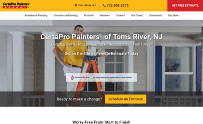 Central-new-jersey certapro com website  Toms River Painters