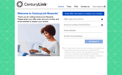 centurylinkrewardoffers com website