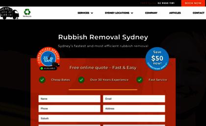 Cheapestloadofrubbish com au website  Rubbish Removal Sydney