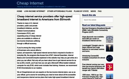 Cheapinternet Com Website Cheap Internet Service Unlimited