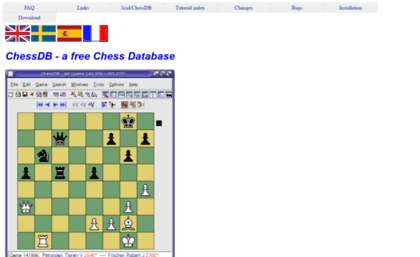 Chessdb sourceforge net website  ChessDB - a free Chess