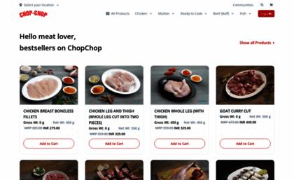 Chopchop in website  Chop Chop