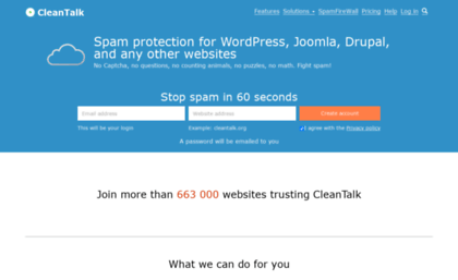 Cleantalk org website  Anti-spam plugins for websites by