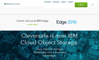 cleversafe org website ibm cloud object storage
