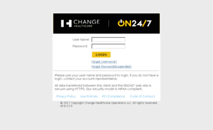 Clientsupport emdeon com website  Change Healthcare ON24/7 | Login