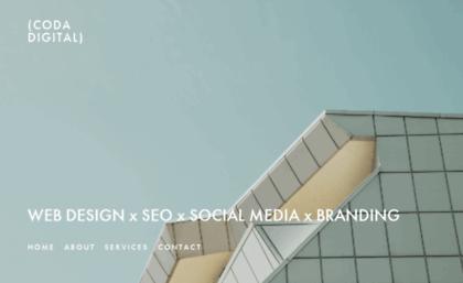 Codadigital com au website  Coda Digital - Website Design