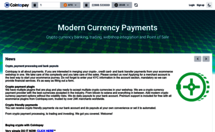 Cointopay com website  Cointopay - Modern Currency Payment