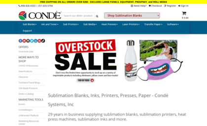 Conde com website  Sublimation - Conde Systems - 26 Years Expert