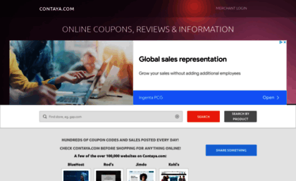 Contaya com website  Coupon Codes and Discounts | Online