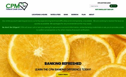 Cpm Federal Credit Union >> Cpmfed Com Website Home Cpm Federal Credit Union