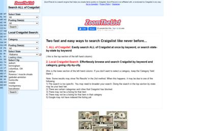 Craigzoom com website  Craigslist Search Engine: Easily
