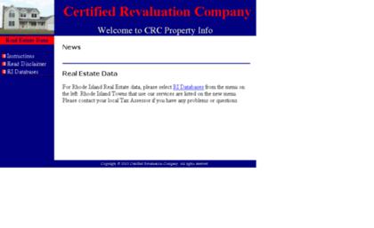 Crcpropertyinfo com website  CRC Real Estate Data