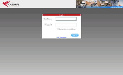 Cts.cardlog.com website. Cardinal Logistics Portal.