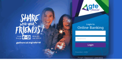 Cuathome gtefcu org website  GTE Financial: GTE Online