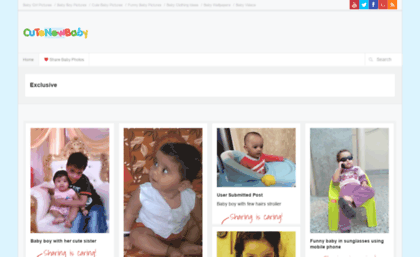 Cutenewbaby.com website. Cute baby pictures 0bcecf319
