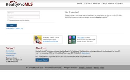 D3x1 realtypromls com website  RealtyPro MLS - Member Login