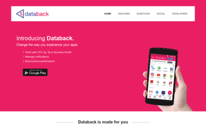 Databackapp com website  Free 3G | Free Data Recharge | Save mobile