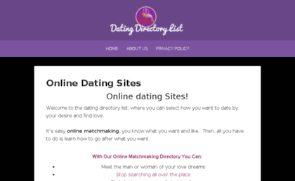 Dating directory list