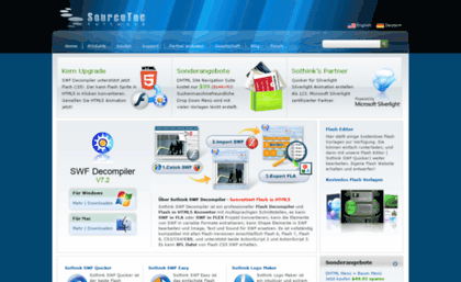 De sothink com website  SWF Decompiler, Flash Decompiler