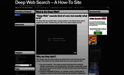 Deep-web org website  Deep Web Research Resource
