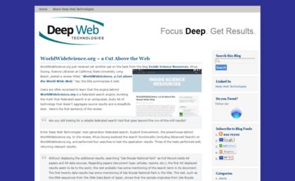 Deepwebtechblog com website  The company blog for Deep Web