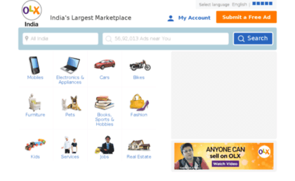 Delhi olx in website  Free classifieds in India, Classified
