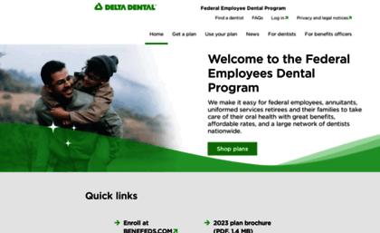 deltadentalfeds org Deltadentalfeds.org website. Federal Employees Dental Program.