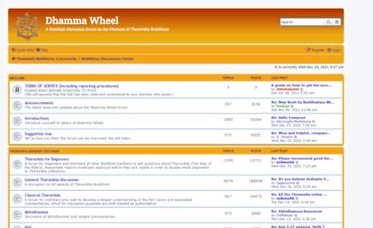 dhammawheel com website dhamma wheel buddhism discussion forum