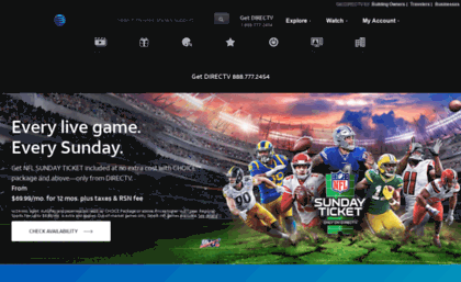 Directvrebates.com website. Rebates Center - DIRECTV.