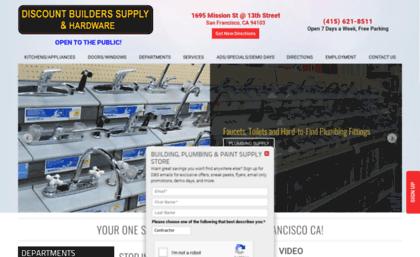 Discountbuilderssupplysf com website  Hardware Store