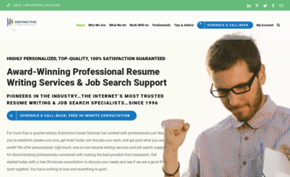 Distinctiveweb Website Award Winning Resume Writing Services