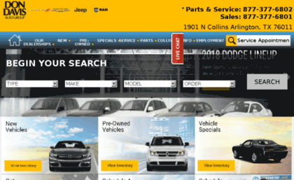 Dodge Dealership Arlington Tx >> Dodge Dondavisautogroup Com Website Chrysler Dodge Jeep And Ram