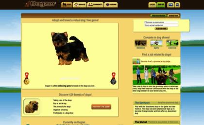 Dogzer Website Dog Game To Adopt A Virtual