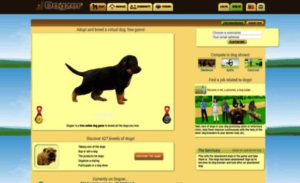 Dogzerus Website Dog Game To Adopt A Virtual Dogzer
