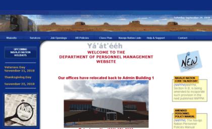 Dpm.navajo-nsn.gov website. NAVAJO NATION DPM.
