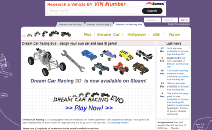 Dreamcarracing Com Website Dream Car Racing Evo Play On The
