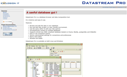 Dspro sourceforge net website  Datastream Pro - Datastream Pro