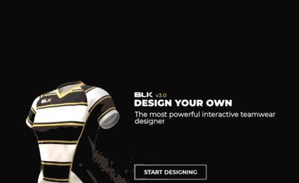 Dyo blksport com website  BLK Design Your Own