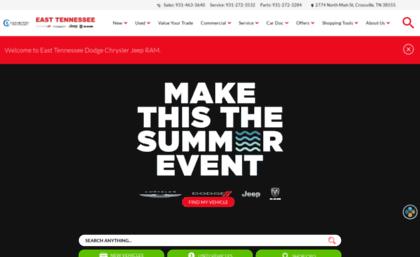 East Tn Dodge >> Easttennesseedodge Com Website East Tennessee Dodge Chrysler Jeep