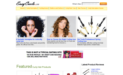 Easycurls.com website. Curly Hairstyles, Curly Hair Care and ...