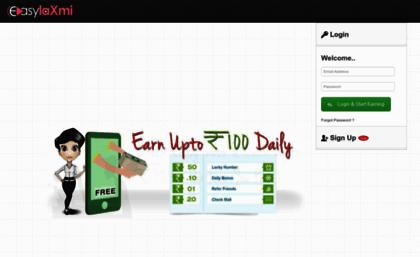Easylaxmi com website  Free Mobile Recharge   Free Talktime   Second